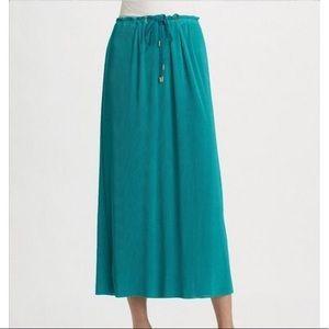 Diane Von Furstenberg Chania Pleated Maxi Skirt